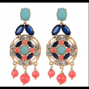 Kate Spade NY Jeweled Tile Statement Earrings
